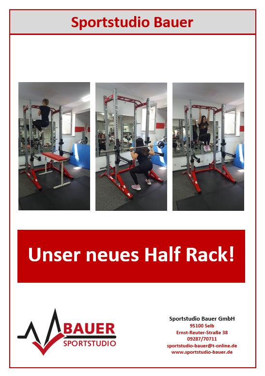 Unser neues Half Rack!